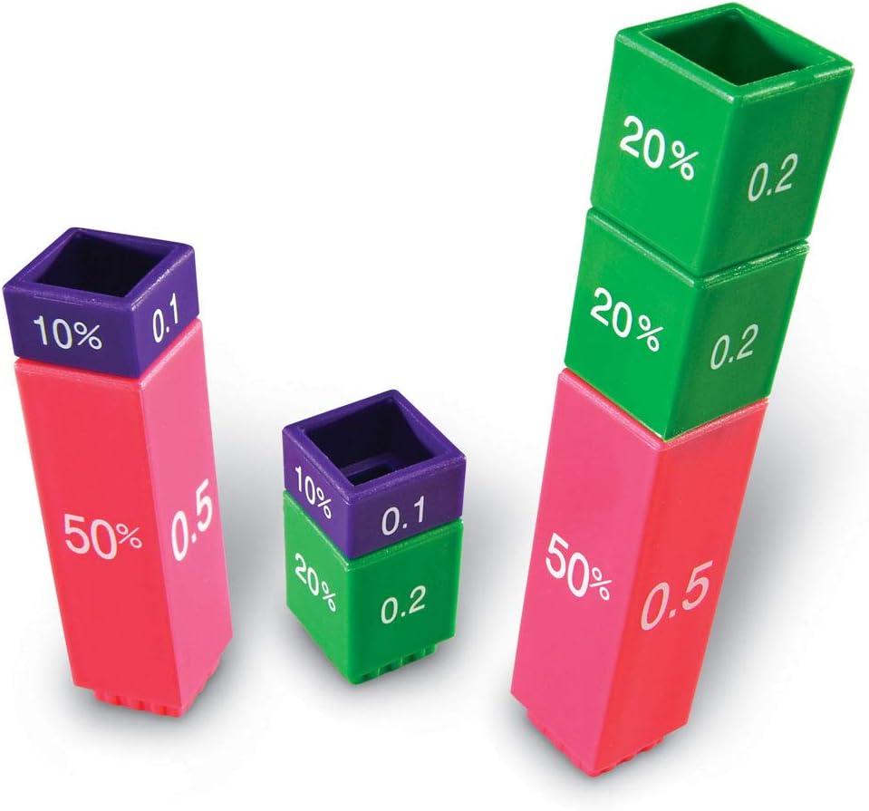 Learning Resources Resources-LER2509 Conjunto de equivalencia de Cubos Fraction Tower, Color (LER2509): Learning Resources Fraction Tower Equivalency Cube: Amazon.es: Juguetes y juegos