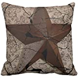 Grunge rustic Texas star western country art Throw Pillow Cover 18x18