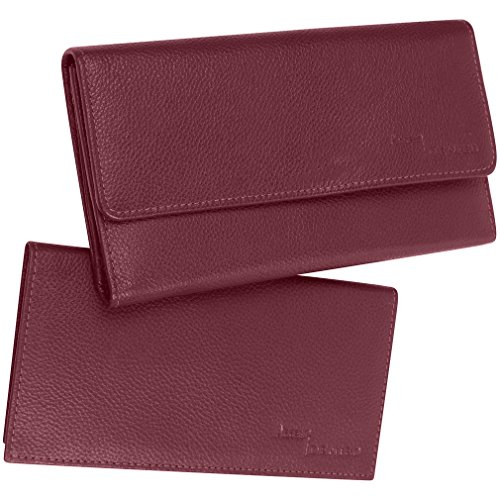 Access Denied RFID Blocking Womens Leather Wallet and Checkbook (Mulberry)