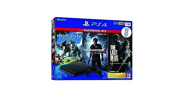 Pack: Sony PS4 Slim 1TB + Horizon Zero Dawn + Uncharted 4 + The Last of Us (Android): Sony: Amazon.es: Videojuegos