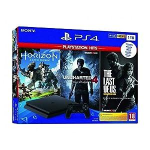 Pack PS4 Slim 1TB + Horizon Zero Dawn + Uncharted 4 + The Last of Us