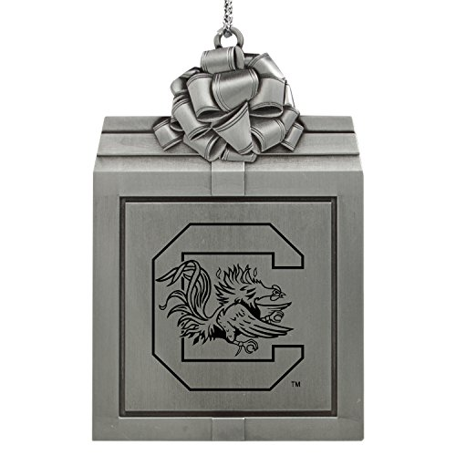 University of South Carolina -Pewter Christmas Holiday Present Ornament-Silver