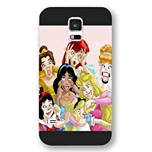 meilinF000UniqueBox Customized Disney Series Phone Case for Samsung Galaxy S5, Disney Princess Samsung Galaxy S5 Case, Only Fit for Samsung Galaxy S5 (Black Frosted Shell)meilinF000