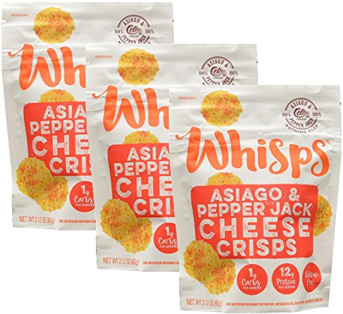 (Whisps Asiago & Pepperjack Cheese Crisps (2.12) (3 Pack))