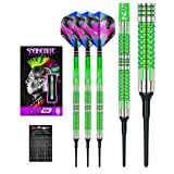 Red Dragon Peter Wright Snakebite Mamba 2 - 18g - 90% Tungsten Soft-Tip Darts with Flights, Shafts & Red Dragon Checkout Card