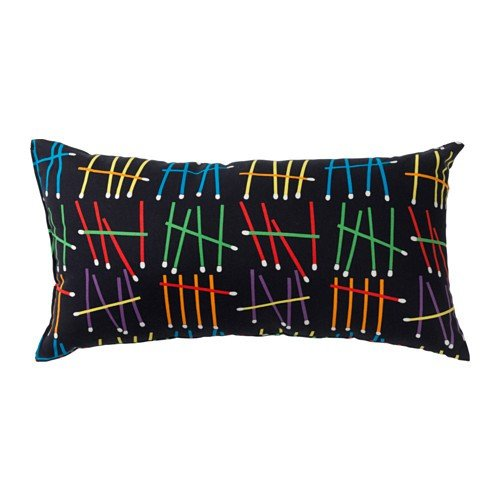 IKEA önskedröm cojín negro y multicolor; (30 x 60 cm ...