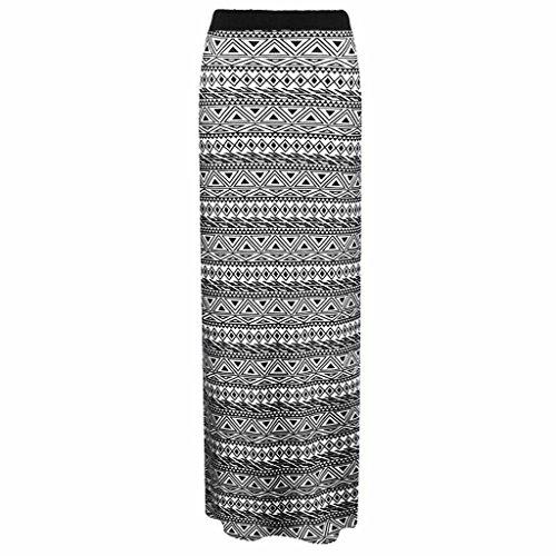 Mujer Gitana Larga Falda Elástico Jersey Vestido Verano Maxi impreso vestido tamaños 8–�?0, 12–�?4 Small Aztec