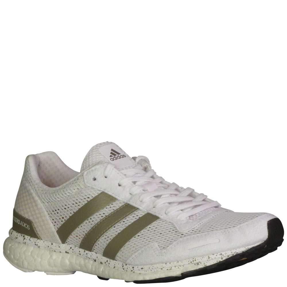 uk availability d4c2b 3049e Galleon - Adidas Women s Adizero Adios W Running Shoe, FTWR White, Cyber  Met, Core Black, 8 M US