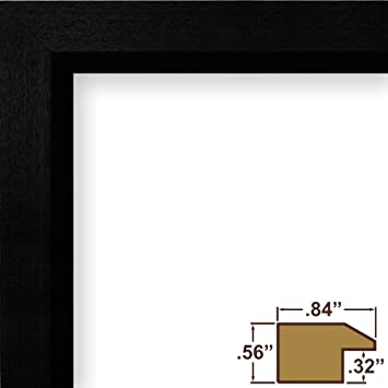poster frame 22 inch x 34 inch solid wood black