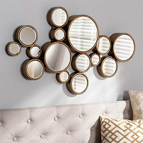 Baxton Studio Cassiopeia Gold Finished Bubble Accent Wall Mirror