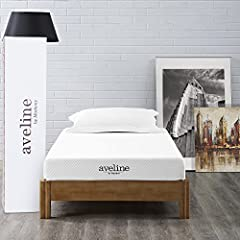 Take a deep breath and exhale because you've found your pathway to that perfect sleep with the Aveline 6 inch pressure relief twin memory foam mattress. Topped with gel-infused memory foam to keep your body climate steady, this firm twin matt...
