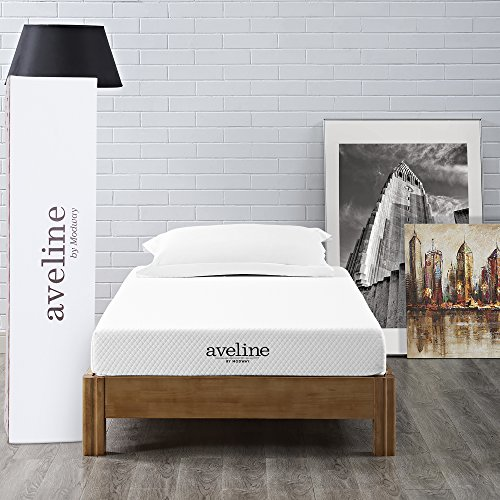 "Modway Aveline 6"" Gel Infused Memory Foam Twin Mattress With CertiPUR-US Certified Foam - 10-Year Warranty - Available In Multiple Sizes"