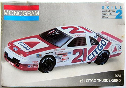 #21 Citgo Thinderbird 1:24 Skill 2 Morgan Shepherd Wood Brothers Model Kit