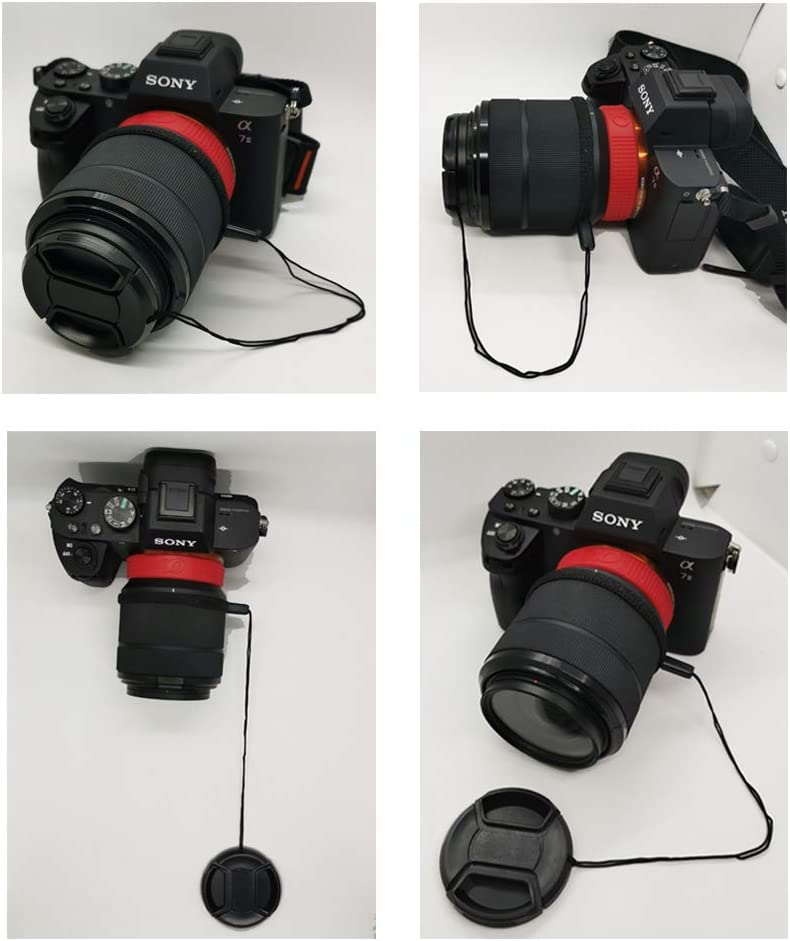 3 +3 Pack E55-210mm Lens FE 50mm f//1.8 Lens Cap /& Keeper for Sony FE 50mm f//1.8 FE 55mm f//1.8 ZA
