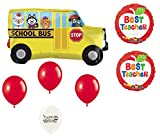 Cute School Bus and Best Teacher 7 Piece Balloon Bundle
