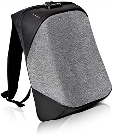 Korin Design ClickPack Pro – Anti-theft BackPack Laptop Bag with USB charging port large capacity waterproof TSA travel friendly Black and Grey