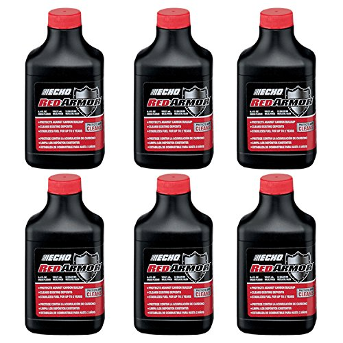 Echo 6550025 PK6 Red Armor 6.4oz 2-Stroke Oil Mix for 2.5 Gallon (Echo Oil)