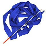 4m Stain Twirling Dance Gym Art Rhythmic Gymnastics Streamer Dazzler Ribbon with Stick Rod Baton Wand