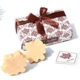 AiXiAng Handmade Scented Cute Soap Guests Keepsake Gift Wedding Favors Gift Baby Shower Favors Decorations, Parties, Thanksgiving Gifts (Fall in Love Maple Leaf Style,10 Pack)