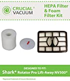Filter Kit for Shark NV500 Vacuums; Includes HEPA, Foam and Felt Filters; Compare to Shark Part Nos. XHF500, XFF500; Designed & Engineered by Crucial Vacuum