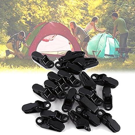 Klemmen Niete-Kunststoff Zelt Zelt in Form von Krokodil f/ür Camping Clamp Clips Outdoor-Aktivit/äten Clips-Abdeckplane