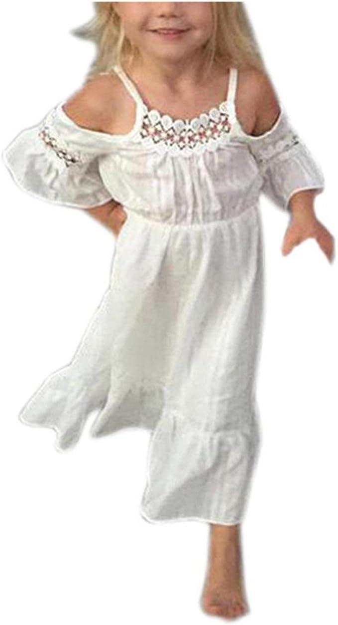 Bekleidung Longra Bekleidung Longra Sommer Mädchen Spitzenkleid Farbe