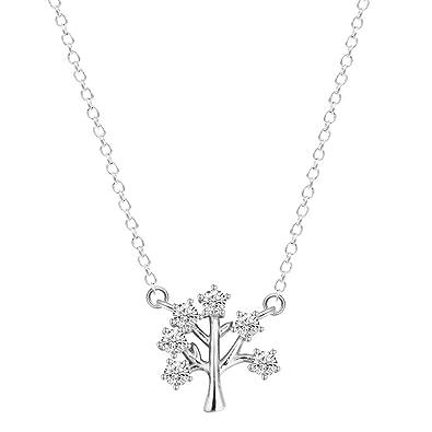 Amazon qiandi 925 silver tree of life women trees pendants qiandi 925 silver tree of life women trees pendants necklaces zircon jewelry for girls birthday gift aloadofball Choice Image