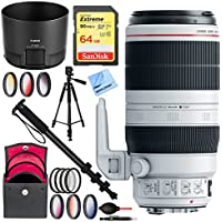 Canon EF 100-400mm f/4.5-5.6L IS II USM Lens (9524B002) with Kodak Flash Plus 64GB Accessories Bundle