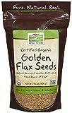 Cheap NOW Foods Certified Organic Golden Flax Seeds, 16-Ounce