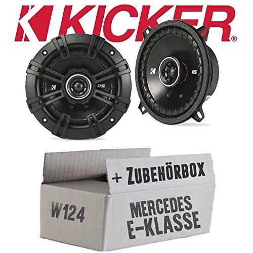 Kicker DSC 504 13cm Koax Lautsprecher JUST SOUND best choice for caraudio Einbauset f/ür Mercedes W124 Limo Heck
