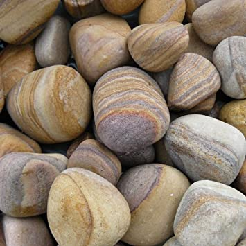 garden stones or pebbles high quality tumbled rainbow sandstone pebbles for garden design use