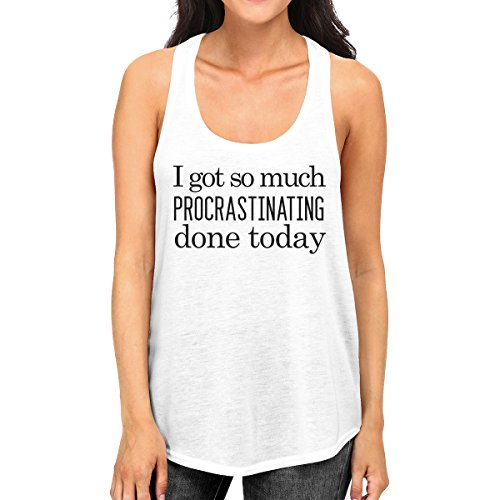 Unique Manche Sans Taille Procrastinating Printing Done Femme Pull White Today 365 ywqOcR7YM
