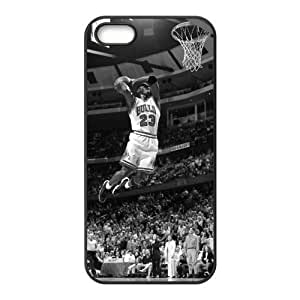 Cool NBA Chicago Bulls MICHAEL JORDAN DUNK AT AGE 50 For Iphone 5/5S Phone Case Cover Best Hard Protection Cover for For Iphone 5/5S Phone Case Cover -Black-DIY