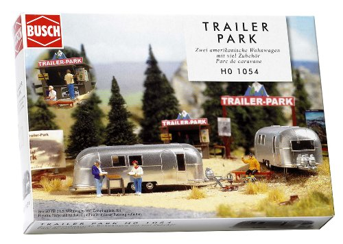 Busch 1054 Camping Trailer Park Scn HO Scale Scenery - Camping Accessories Model