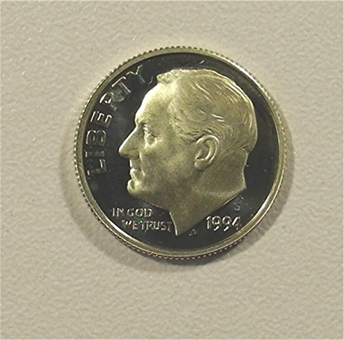 Head Silver Dime Us Coin (1994 S Silver Roosevelt Proof Dime PR-01 US Mint)