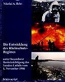 Die Entwicklung des Rheinschutz-Regimes, Nikolai A. Behr, 3980867803