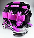 The Original Pink Box PB30TBK 30-Piece Tool Set, w/ 12-Inch Tool Bag, Pink