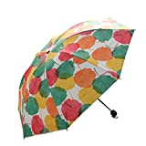 Ultra light Mini Compact Travel Umbrella Windproof Folding Golf Umbrella With 95% UV Protection (E)