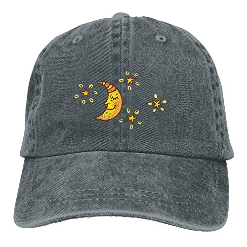 Skull Hat Sport Cap Moon DEFFWB Denim for Cowgirl Cowboy Women Men Hats Star fnwxBFIBR