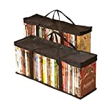 Besti Home DVD Storage Bags (2-Pack) Holds 80 Total Movies or Video Games | Convenient Travel Case for Media | Stackable, Easy to Carry