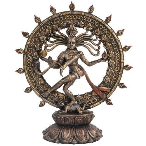 Hindu Shiva Nataraja Dancing Statue Bronze Finished by Pacific Giftware