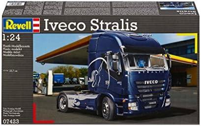 Revell Modellbausatz LKW 1:24 - Iveco Stralis im Maßstab 1:24, Level 5, originalgetreue Nachbildung mit vielen Details, Lastwagen, Truck, 07423