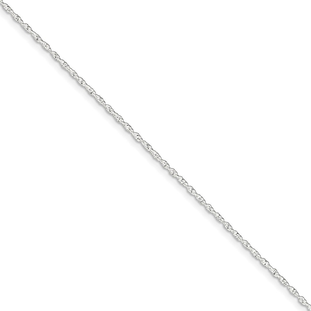 925 Sterling Silver 1.3mm Link Singapore 1 Inch Adjustable Chain Plus Size Extender Anklet Ankle Beach Bracelet Fine Jewelry For Women Gift Set ICE CARATS IceCarats 5823069527061210598