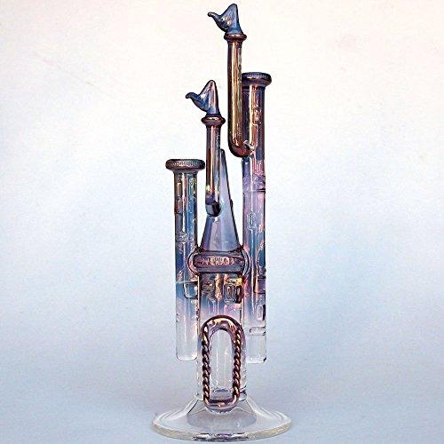 Castle Figurine of Hand Blown Glass by Prochaska Gallery