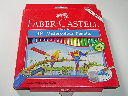 Faber Castell 48 Watercolour Pencils. by Thailand