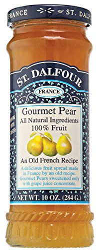 Charles Jacquin-St.Dalfour Consrv, Pear, 100% Fruit, 10-Ounce (Pack of 6)