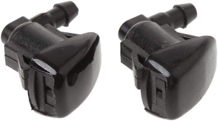 Alta qualit/à 2 Pezzi tergicristallo Washer Jet ugello di spruzzo for Toyota Corolla E120 Camry XV30 Accessori Auto Ugelli tergicristallo Color : Black