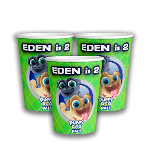 12 Personalized Puppy Dog Pals Paper Cups |