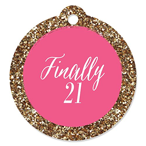 Finally 21 Girl - 21st Birthday - Party Favor Gift Tags (Set of 20)