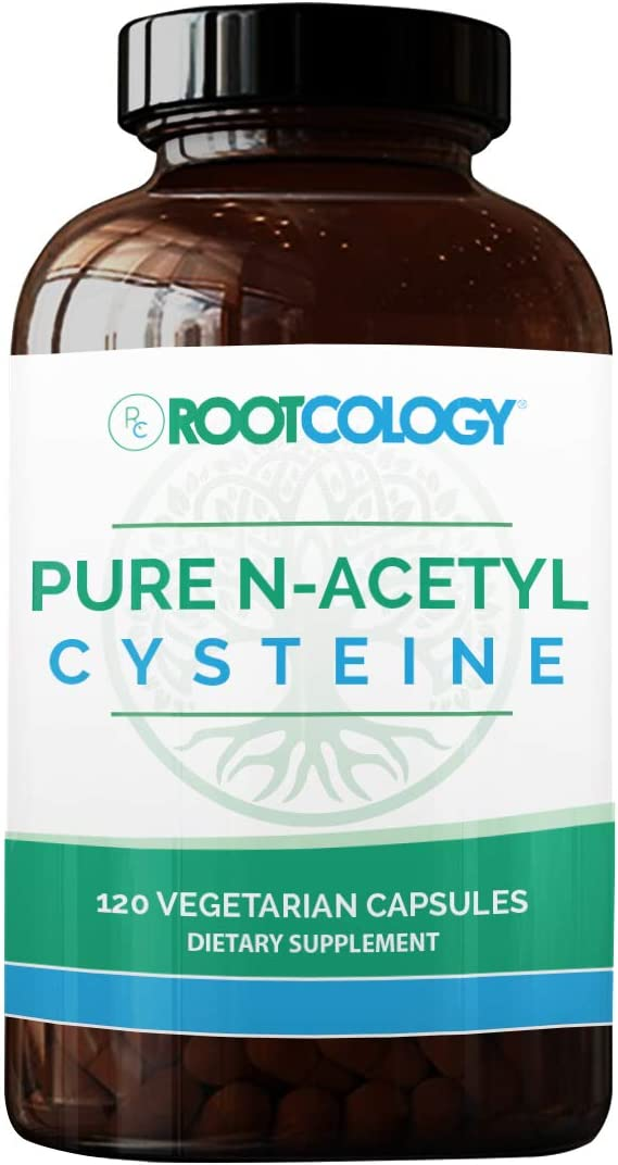 Rootcology Pure N-Acetyl-Cysteine – 900mg NAC by Izabella Wentz Author of The Hashimoto s Protocol 120 Capsules